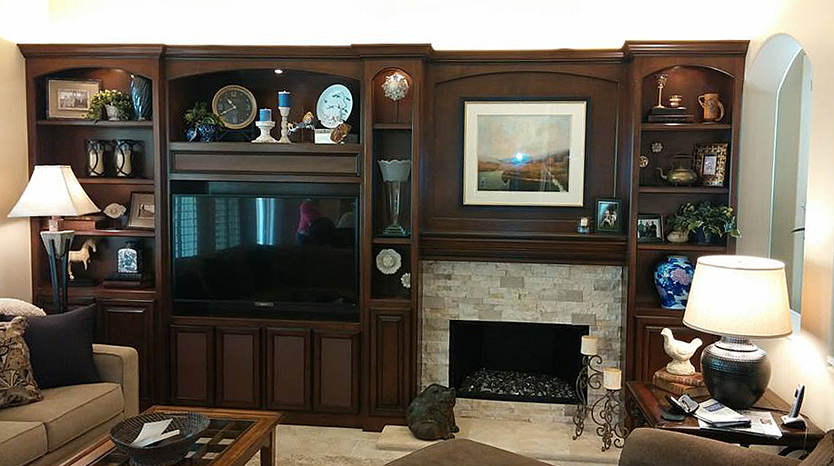 Custom Yorba Linda Wall Unit/Entertainment Center