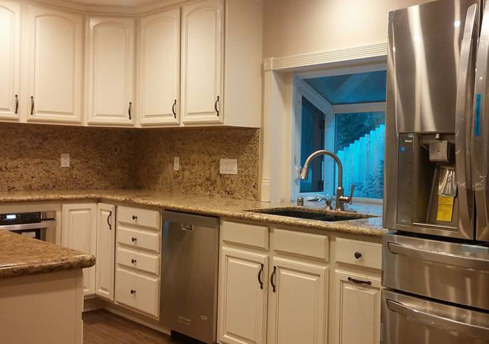 Custom Granite Counter Kitchen in Orange County